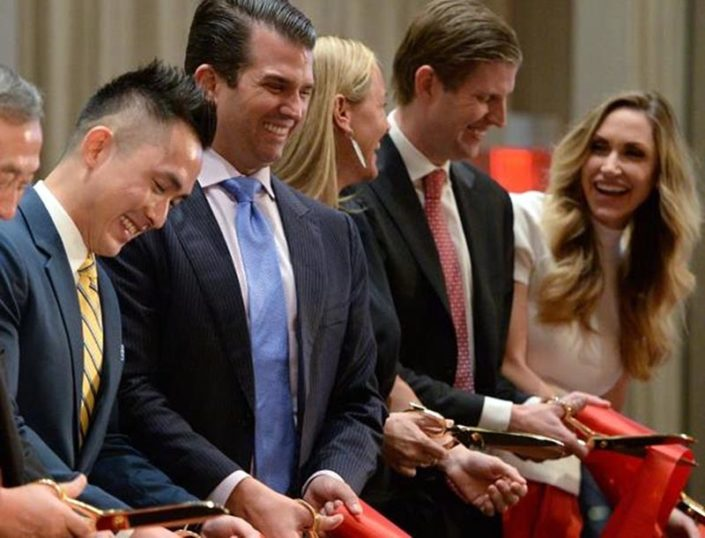 Trump opening ribbon cutting